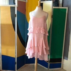 Pink spaghetti strap gauze dress by Guess